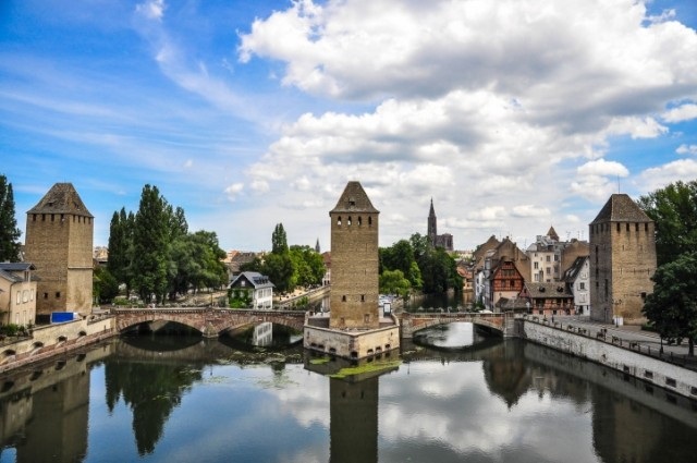 Strasbourg_France_Ponts_Couverts_seen_from_Barrage_Vauban